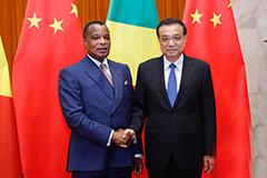 李克强会见刚果共和国总统萨苏