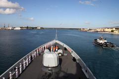 中国海军环太军演舰艇编队转入海上演习阶段