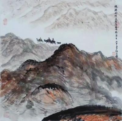 """""""丝绸之路·敦煌心象""""水墨画展在深圳举行(图)"""