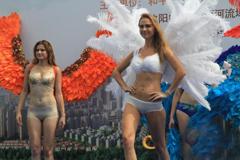 美女模特走秀助阵沈阳国际风筝节