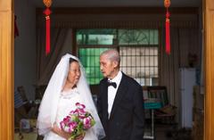 九旬抗战老兵的七夕节 拍张结婚照纪念爱情