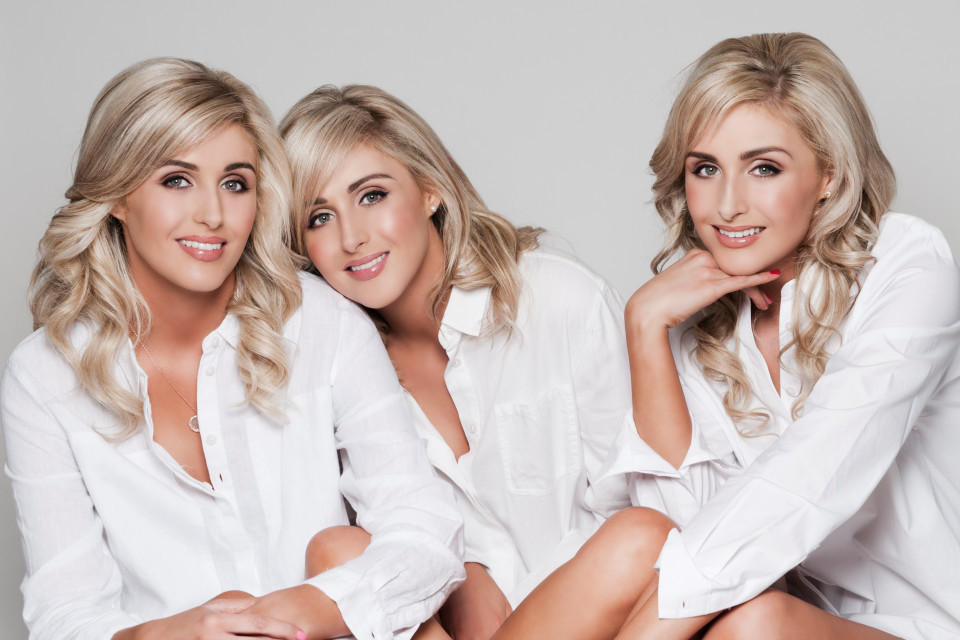 世界最美三胞胎模特