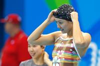 泳坛女神刘湘奥运赛场热身