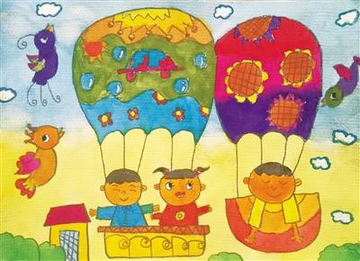 幼儿画画图片大全热气球