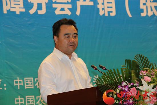 """黄泽元:以""""张交会""""为平台 希望更多人关注张掖农业发展机遇(图)"""