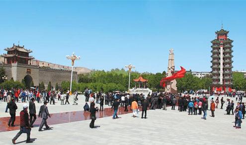 """【重走长征路】""""会宁,好地名啊,红军会师,中国安宁"""""""