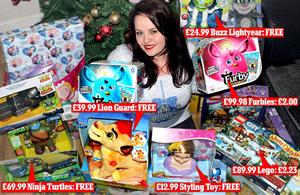 英国女子仅花84元为家人准备万元圣诞礼物(组图)