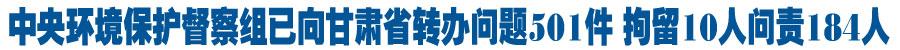 中央第七环境保护督察组向甘肃省转办第十一批群众环境信访投诉问题