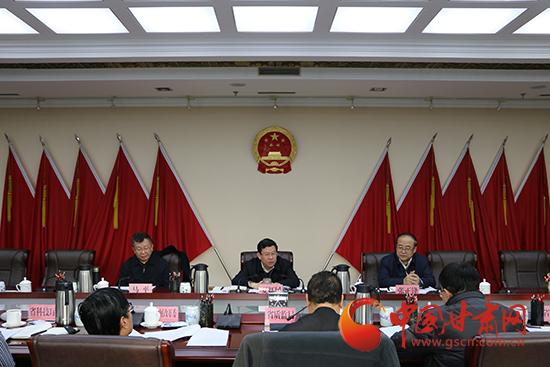 2016年甘肃省政府质量奖评审委员会会议在兰召开 夏红民讲话(图)