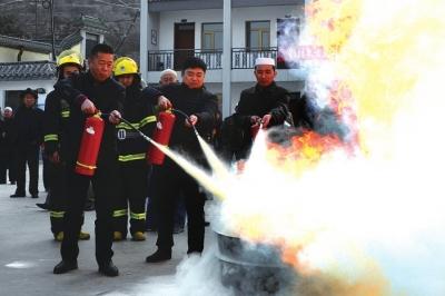 兰州七里河举办宗教活动场所消防安全培训演练(图)