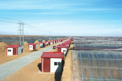 武威古浪县谋划建设西靖镇千亩日光温室示范点
