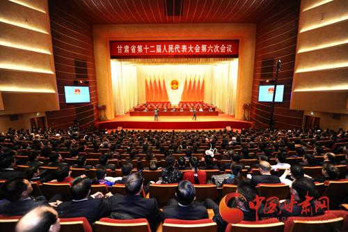 甘肃省十二届人大六次会议举行预备会(图)