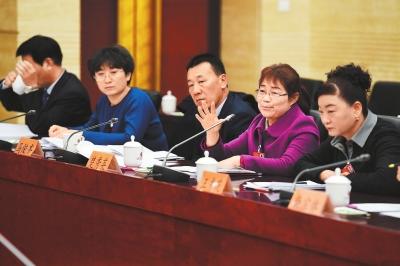 武威团代表审议省人大常委会工作报告