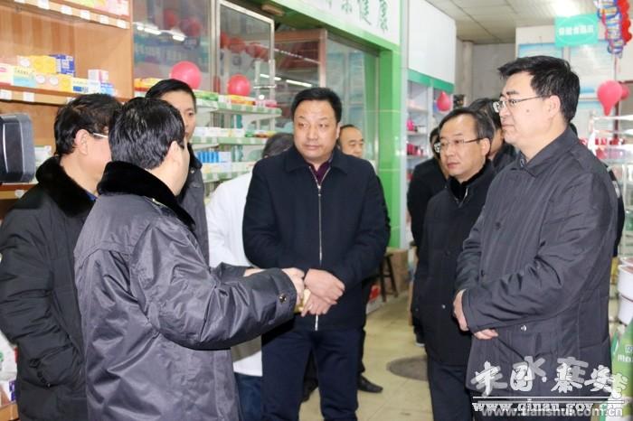 天水秦安县领导督查春节期间食品药品安全工作(图)