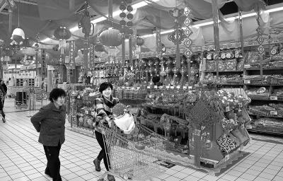 春节临近 兰州各大商场、超市货源充足(图)