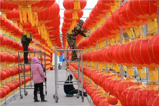 酒泉市肃北县红红火火迎新年(图)
