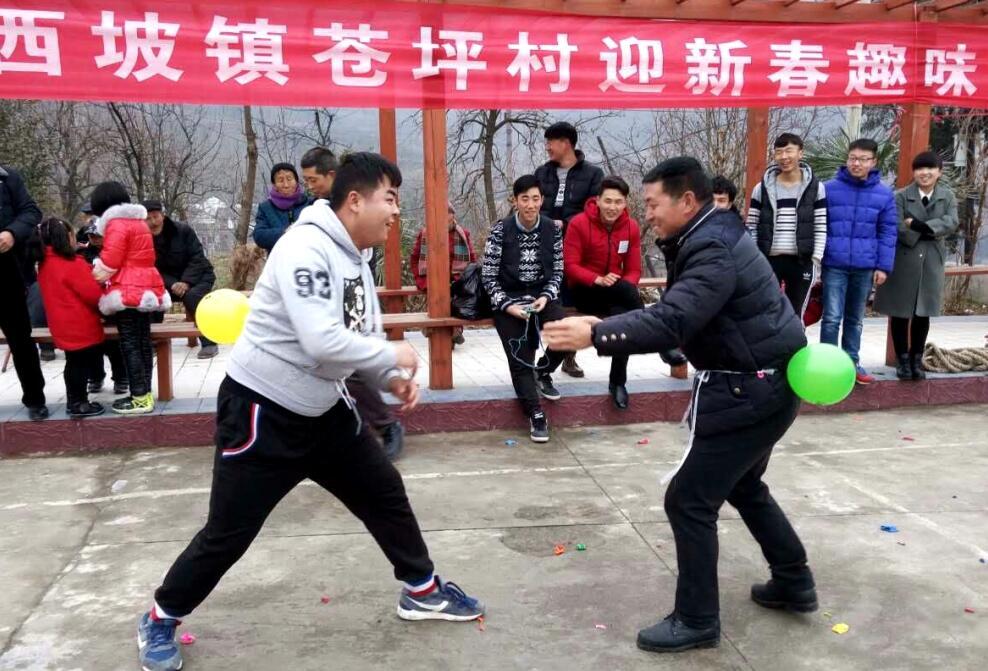陇南市两当县西坡镇苍坪村:趣味运动会 快乐庆新春(图)