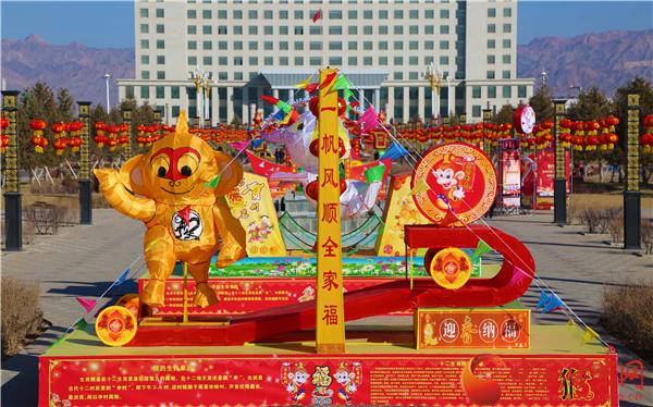 甘肃张掖山丹县价值180万元大型民俗文化灯展吸引市民(组图)