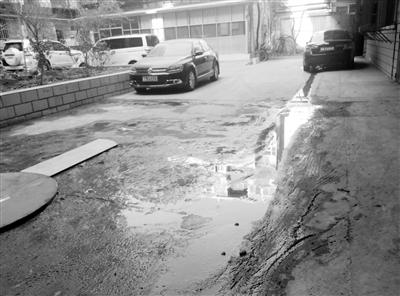 兰州一小区下水井泛污仨月臭气熏天 问题难解决居民叫苦