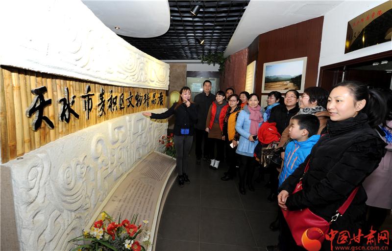 天水麦积区120件文物精品展示甘肃八千年文化(图)