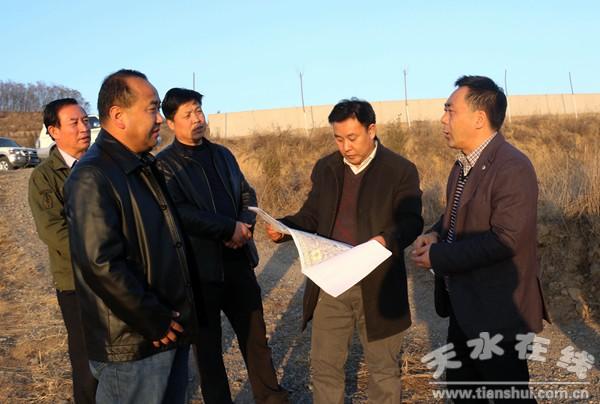 王新强、马小平调研天水北山绿化及连翘种植工作(图)