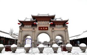 甘肃天水城迎来丁酉年第一场大雪(图)