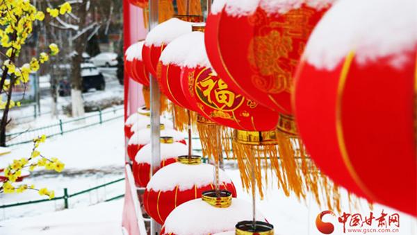 """瑞雪降临""""填仓节"""" 期盼新年好丰收 (组图)"""