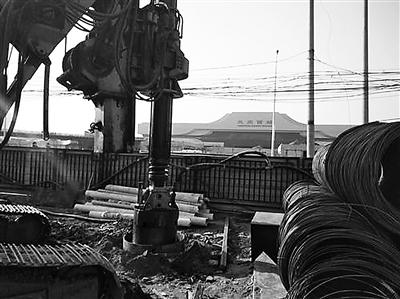 兰州轨道交通2号线北区间盾构接收井开始施工