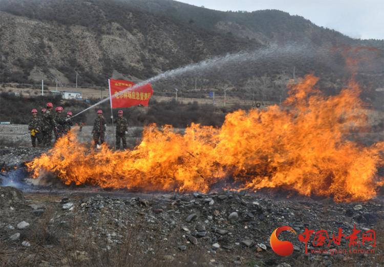 甘南州迭部县开展森林火灾应急预案演练(图)