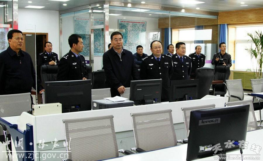 天水张家川县委书记陈晰走访调研政法综治维稳工作(图)
