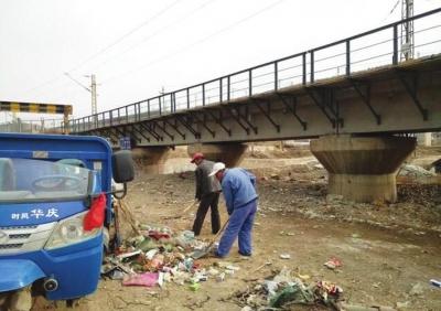 追踪:兰州榆中县来紫堡乡迅速行动整改宛川河道垃圾(图)