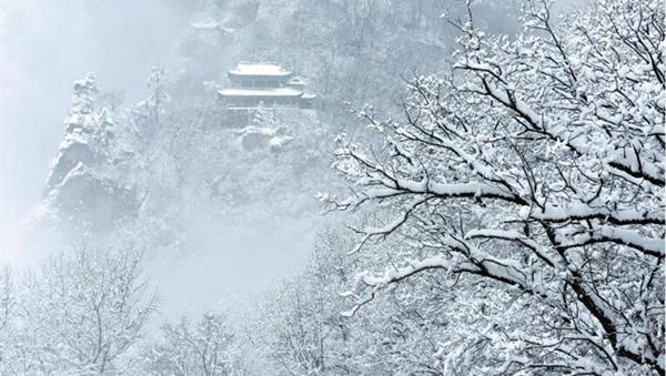 【图说甘肃】飞雪遮崆峒(图)