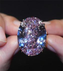 世界最贵粉红之星钻石亮相 估价超6千万美元