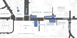 兰轨2号线一期火车站站开始一期永久围挡