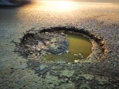 兰州南山路伏龙坪隧道有暗坑啥时能填平? (图)