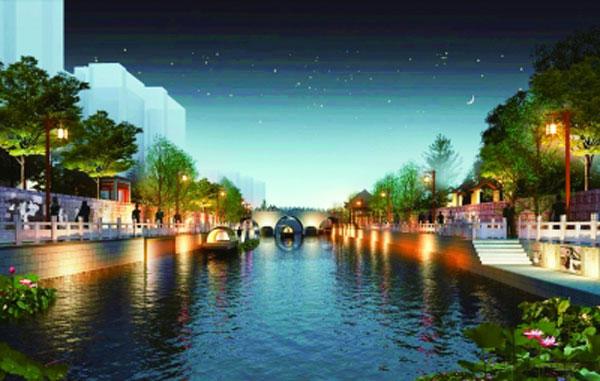 沿河景观打造 南京内秦淮河上将再现南唐盛景