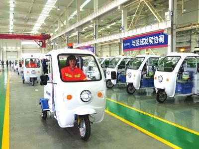 甘肃制造!210辆电动保洁车投入兰州新区(图)