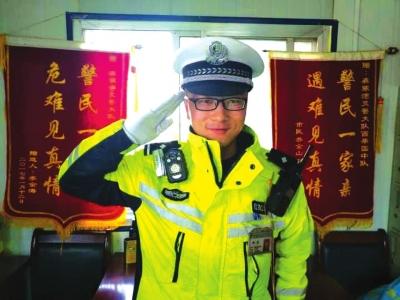 兰州90后交警赵磊和战友们用青春守护百姓平安 引来网友好评(图)