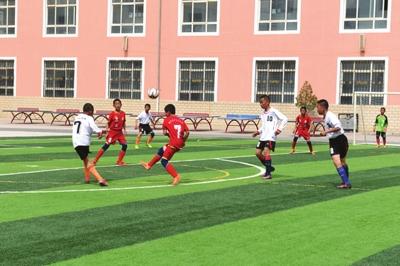 兰州榆中县第三届青少年校园足球比赛闭幕(图)