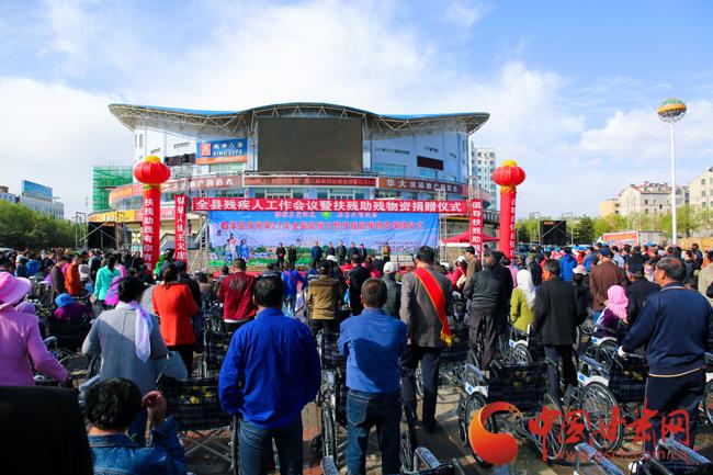 张掖市临泽县庆祝第二十七个全国助残日暨扶残助残物资捐赠仪式举行(图)