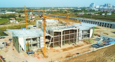 庆阳市大剧院项目建设工程土建部分已进入收尾阶段(图)