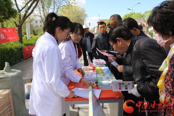 张掖市山丹县疾控中心开展5.15碘缺乏病日宣传活动(图)