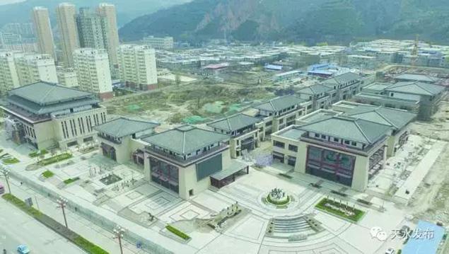 天水秦州印象文景园步行街项目建设稳步推进(图)