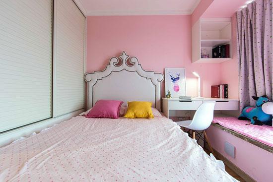可爱小公主养成录 甜美粉色系儿童房(图)