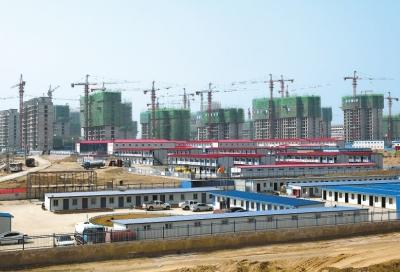 秦王川之春 ——兰州新区项目建设掠影(图)