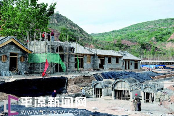 平凉汭龙堡农耕文化生态苑一期项目月底封顶