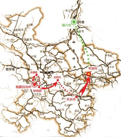 今年环湖赛甘肃境内比赛线路确定(图)
