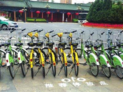 """共享单车有""""家""""了 兰州市内首批推荐停放区划定(图)"""