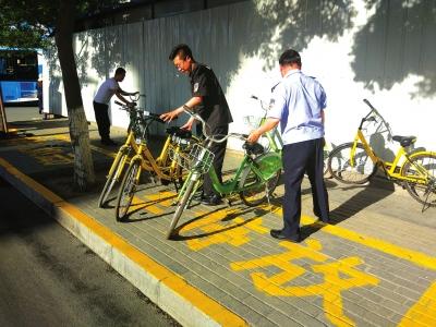 兰州七里河区划定共享单车停放区域(图)