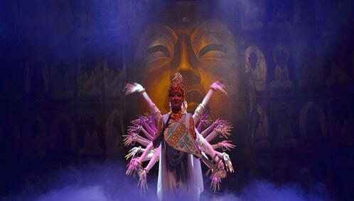 活的敦煌壁画 新版舞剧《丝路花雨》在敦煌上演